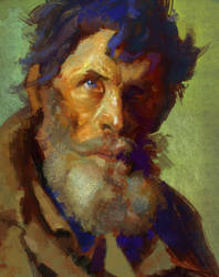 Master study - Repin - Shy Peasant by silent-rage