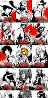 The Walking Dead sketch cards by eisu