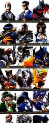 Batman: The Legend cards by eisu