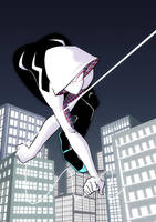 Swinging Spider-Gwen by eisu