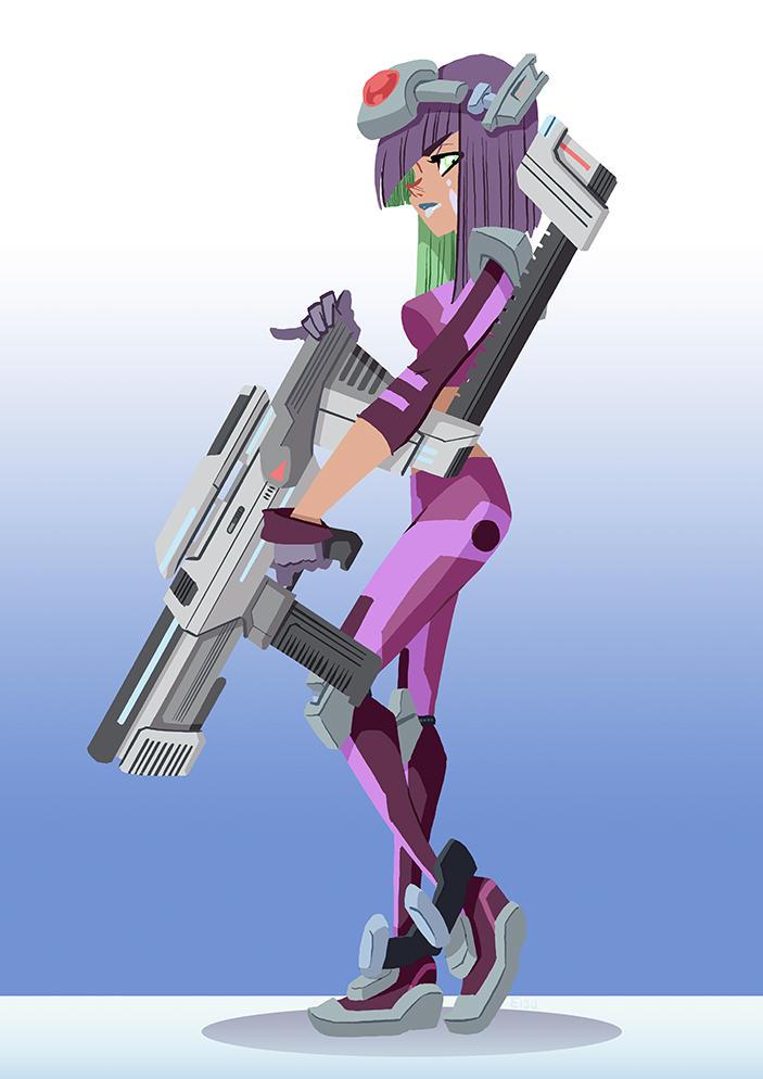 Girl with a Gun by eisu