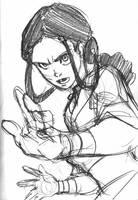 Avatar sketch - Katara by eisu