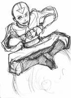 Avatar sketch - Aang by eisu