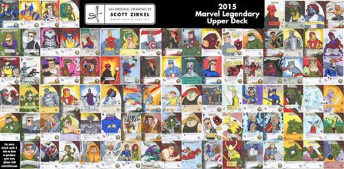 Marvel Legendary Sketch Cards by scottzirkel