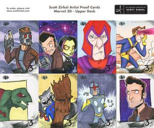 Marvel 3D Artist Proof Sketch Cards by scottzirkel