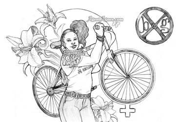 Binx Garage Line Art by agentagnes