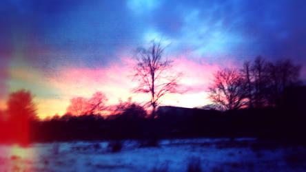 Sunset in Winter by VoidF0x