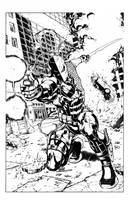 DEATHSTROKE The Terminator by knockmesilly