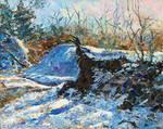 Impasto winter scene in oil by Kay-Sparrow