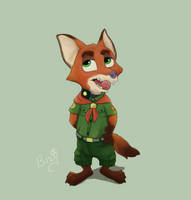 Young Nick Wilde from Museum Scene by aqvilarostrvm