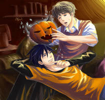 Padfoot and Moony's Halloween by GENgoodstick