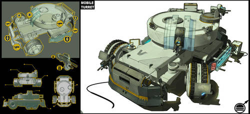 Mobile turret by Sexforfood