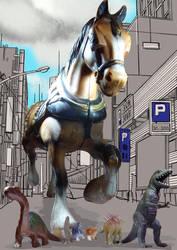 Horsezilla by Louvan