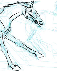 Sketching a race horse by Louvan