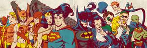 Silver Age JLA for Blastoff Comics - 2012 by elena-casagrande