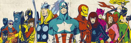 Bronze Age Avengers for Blastoff Comics - 2012 by elena-casagrande