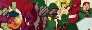 Silver Age Marvel Villains for BlastoffComics 2012 by elena-casagrande