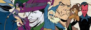 Bronze Age DC Villains for Blastoff Comics by elena-casagrande