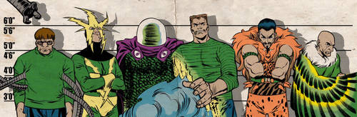 Silver Age Sinister Six for Blastoff Comics by elena-casagrande
