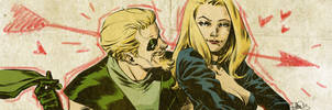 Green Arrow and Black Cannary banner by elena-casagrande