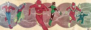 Multiverse banner for Blastoff Comics by elena-casagrande
