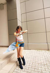 Gunner Yuna in mission by SakuraCherry7