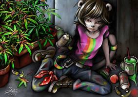 3 color Cannabis sativa Tamazania 3 by skyshek