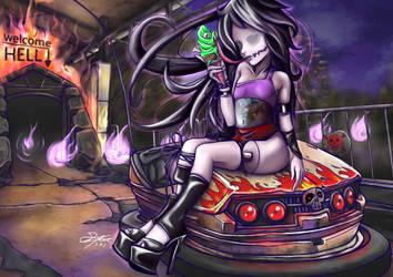 Monster High oc Slenderwoman welcome to hell by skyshek