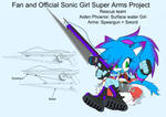 SonicSuperArmsProject  Aiden Phoenix(DesignTest) by skyshek