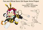 SonicSuperArmsProject  CharmyBee Female(DesignTest by skyshek
