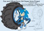SonicSuperArmsProject  Sonic Female(DesignTest) by skyshek