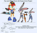 SonicSuperArmsProject  judy Hopps(DesignTest) by skyshek