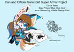 SonicSuperArmsProject  Zoey(DesignTest) by skyshek