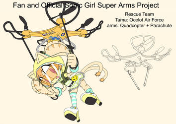 SonicSuperArmsProject  Tama(DesignTest) by skyshek