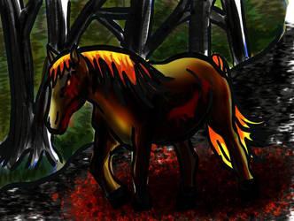 bloody horse by Ka-Kind