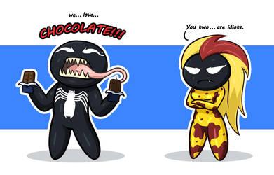 Venom and Scream by SaydousArtCorner