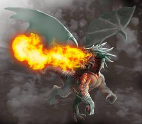 Flame Dragon by Haepo-Heidi