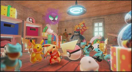 Pikachu's Toy Box by Haepo-Heidi