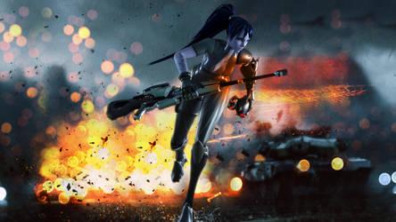 Widowmaker - Battlefield by hicky22