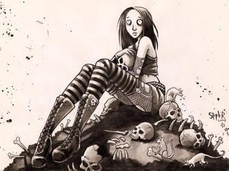 This skull is mine by Pokoa