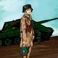 World War II German Soldier by GiviDvali