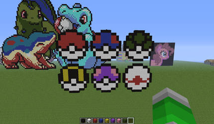 Pokemon Related Pixel Art On Minecraft Pixelart Deviantart