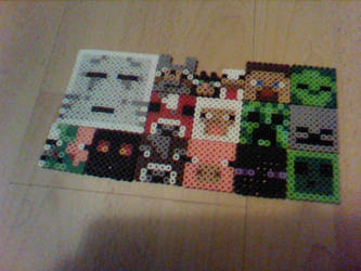 minecraft mobs - perler beads by Rest-In-Pixels
