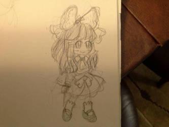 Reimu sketch by Kizune-Chao