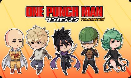 ONE PUNCH MAN - Chibi stickers by Fisukenka