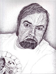 Stippled Self portrait - School project by Anthony-aggro
