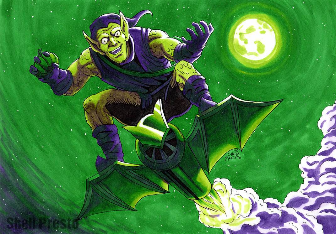 3 Marker Challenge - Green Goblin by shellpresto