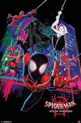 Spider Man Into The Spider Verse (2018) Poster by williansantos26