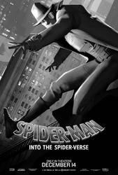 Spider Noir Poster - Spider Man Into The Spider Ve by williansantos26