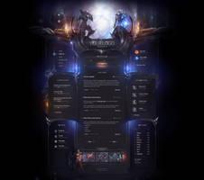 Heroes Online Game Website by DKartsStudio